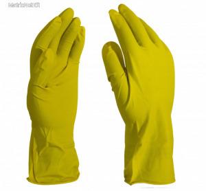 Háztartási gumikesztyű sárga L-es 40 gr