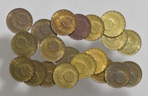 1970 - 1989  2 forint teljes sor ( 86 is ! )   SN75