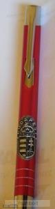 Piros fém toll ón Budapest matricával