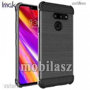 LG G8 ThinQ, Imak Vega Carbon szilikon védőtok, Erősített sarkok, Karbon minta, Fekete