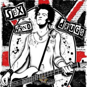 SEX PISTOLS - SEX & DRUGS. SFL. felvarró
