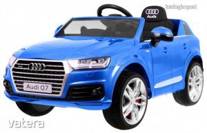Audi Q7 elektromos kisautó lakkozott- kék színben