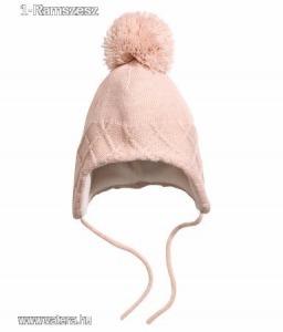 Új H&M 86/92 baby lány rózsaszín termós kötős sapka