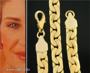 Szép aranyozott nyaklánc 42 cm