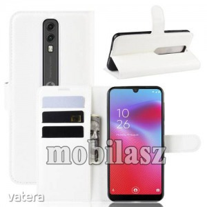 Vodafone Smart V10, WALLET notesz mobiltok, Fehér