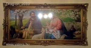 Csodás Blondel keretben ,Szent család kép,/nyomat/