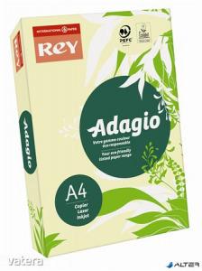 Másolópapír, színes, A4, 160 g, REY 'Adagio', pasztell sárga