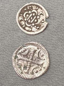 Árpád-házi dénárok ÉH 34A és ÉH 52.